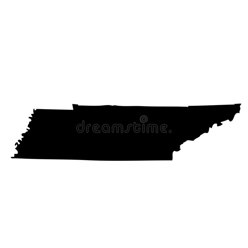Kaart van U S staat Tennessee vector illustratie