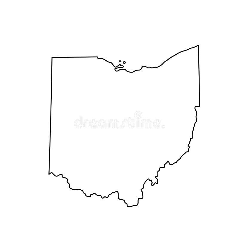 Kaart van U S Staat van Ohio vector illustratie
