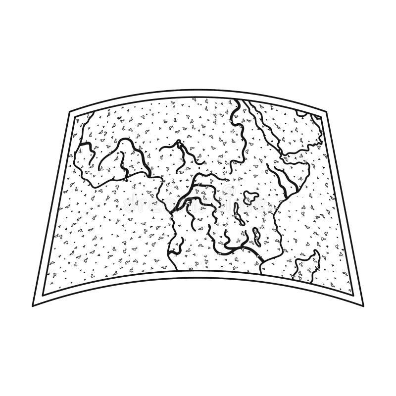 Kaart van vasteland Afrika Afrikaans safari enig pictogram in van de het symboolvoorraad van de overzichtsstijl vector de illustr vector illustratie