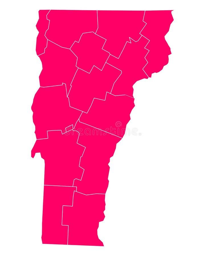 Kaart van Vermont royalty-vrije illustratie