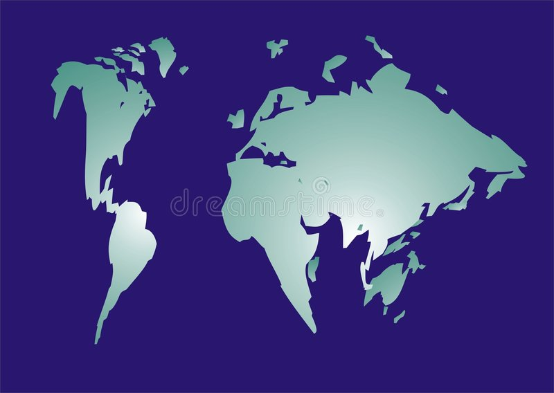 Kaart van wereld stock illustratie