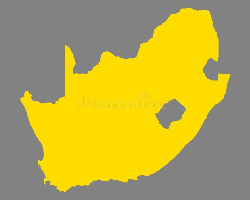 Kaart van Zuid-Afrika stock illustratie