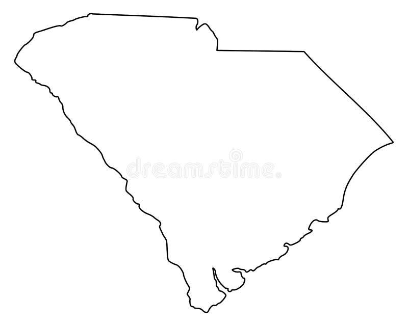 Kaart van Zuid-Carolina vector illustratie