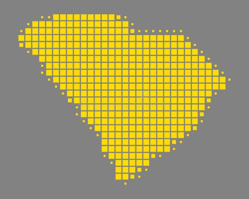 Kaart van Zuid-Carolina royalty-vrije illustratie