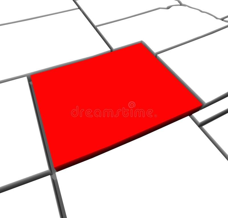 Kaart Verenigde Staten Amerika van de Staat van Colorado de Rode Abstracte 3D