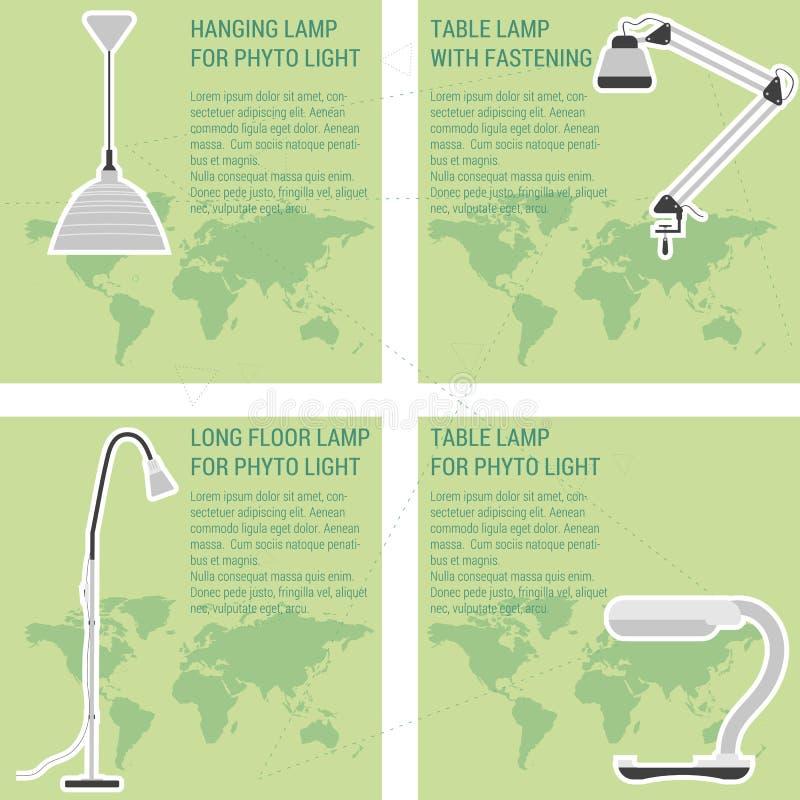 Kaart vier met lampen vector illustratie