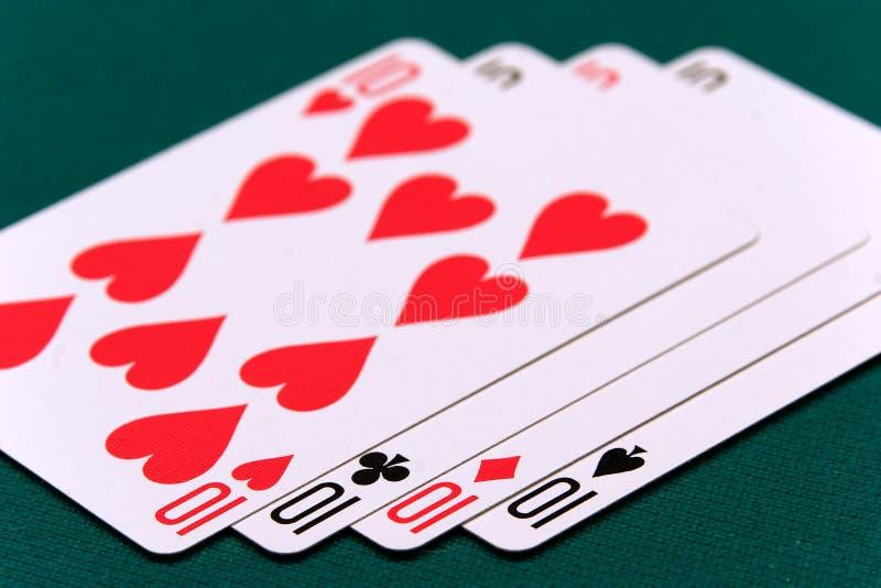 Kaart vier of twee 05 10s van kaarten royalty-vrije stock foto's