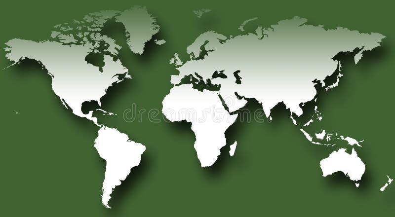 Wereldkaart VII stock afbeelding