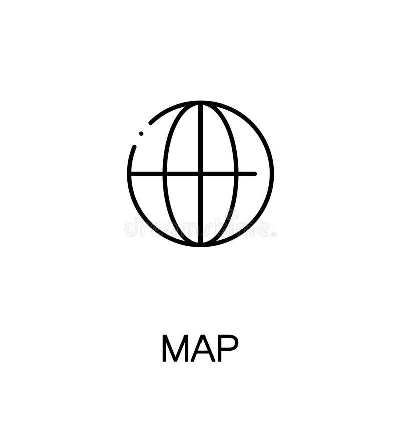 Kaart vlak pictogram stock illustratie