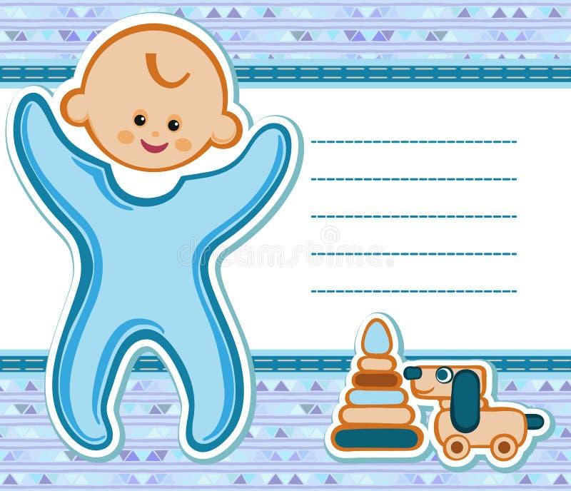 Kaart voor baby royalty-vrije illustratie