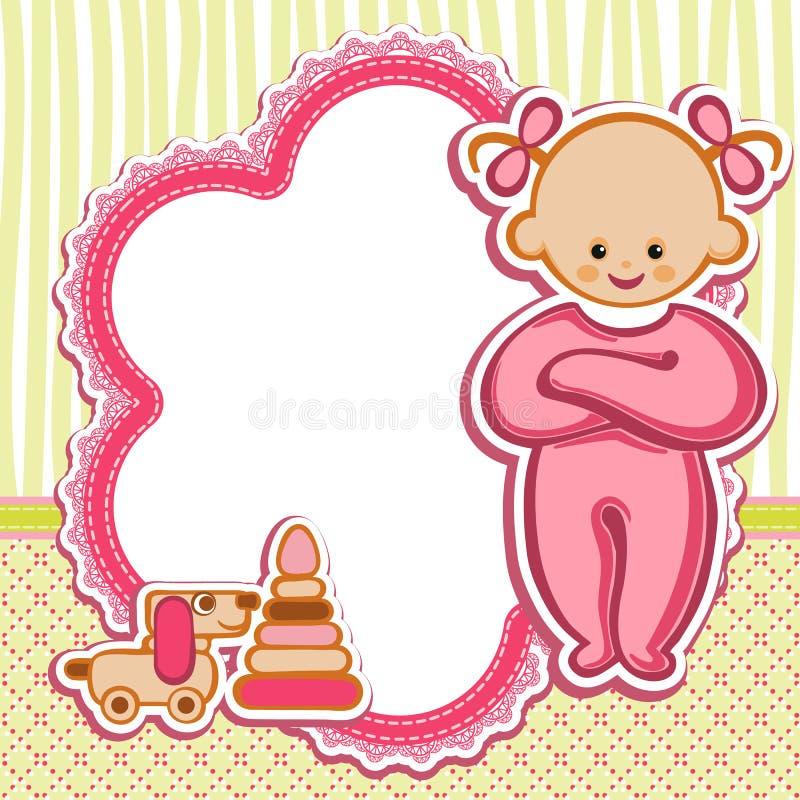 Kaart voor babymeisje royalty-vrije illustratie