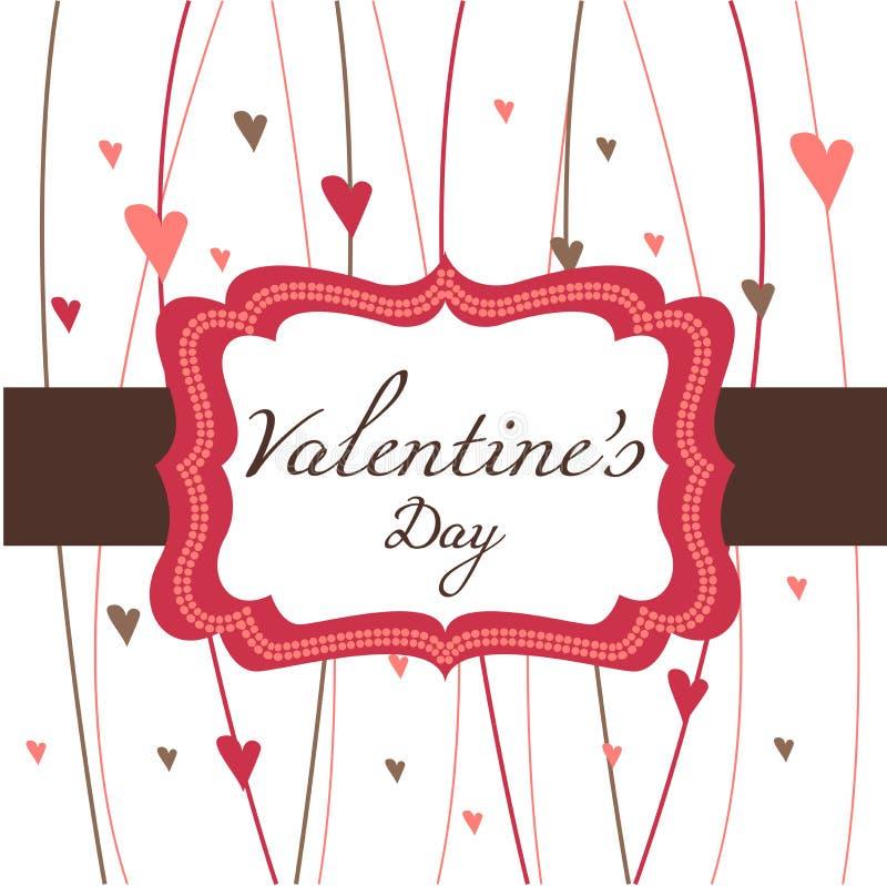 Kaart voor de Dag van de Valentijnskaart vector illustratie