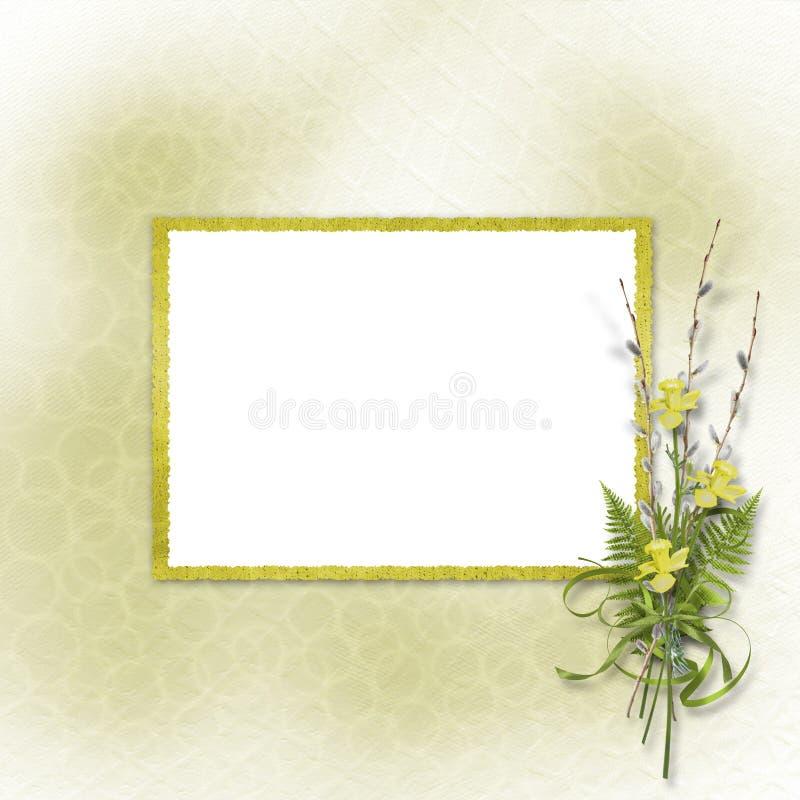 Kaart voor uitnodiging of gelukwens vector illustratie