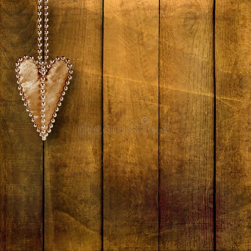 Kaart voor uitnodiging met retro harten stock afbeelding