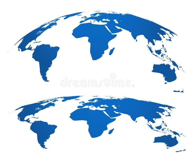 Kaartbol 3d wereld brengt het element van de grafische, aardrijkskundeatlas in kaart Het Webtechnologie van de globaliseringsverb vector illustratie