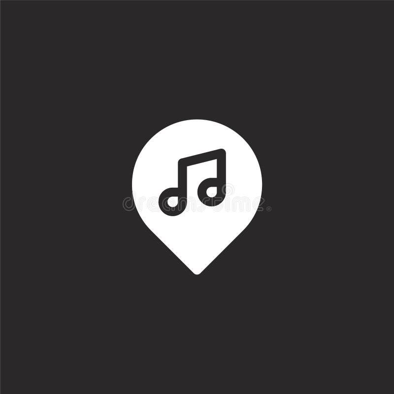 kaarten en plaatspictogram Gevuld kaarten en plaatspictogram voor websiteontwerp en mobiel, app ontwikkeling kaarten en plaatspic royalty-vrije illustratie