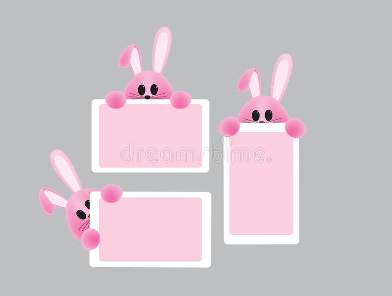 Download Kaarten met konijntje vector illustratie. Illustratie bestaande uit kleurrijk - 29500815