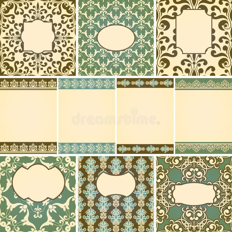 Download Kaarten in retro stijl vector illustratie. Illustratie bestaande uit modern - 29506652