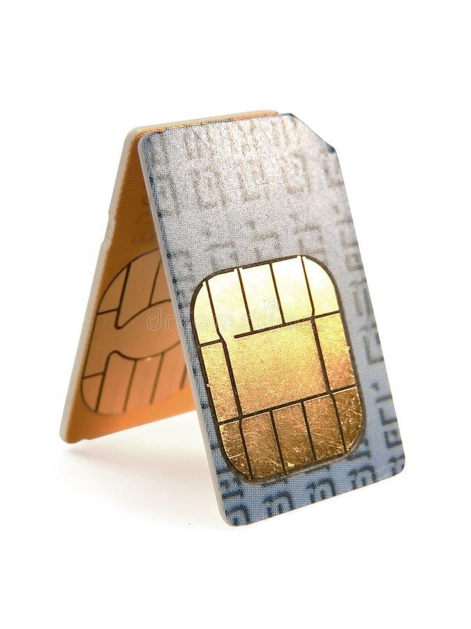 Kaarten SIM royalty-vrije stock fotografie