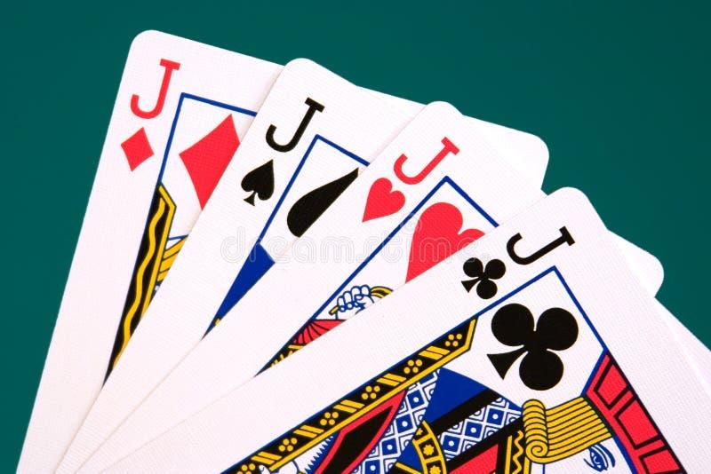 Kaarten vier kaarten 04 hefbomen stock foto