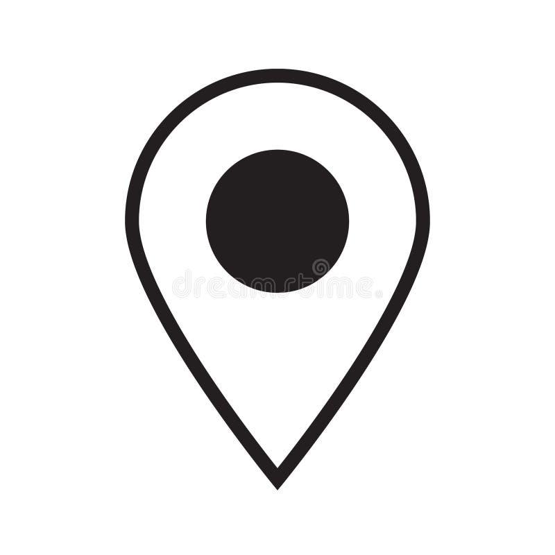 Kaartenspeld Het pictogram van de plaatskaart royalty-vrije illustratie