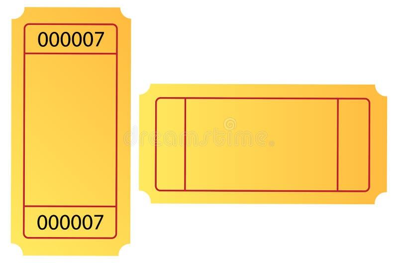 Kaartje stock illustratie