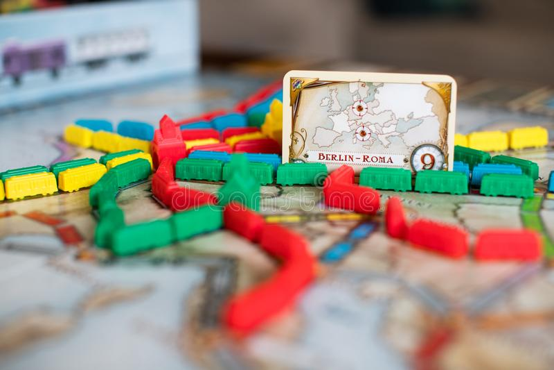 Kaartje om raadsspel te berijden royalty-vrije stock foto