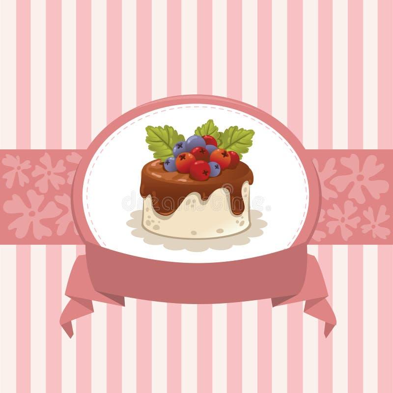 Kaartontwerp met cupcake royalty-vrije illustratie