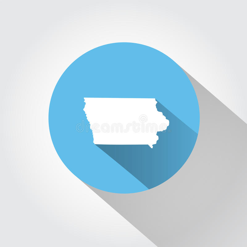 Kaartstaat van Iowa stock illustratie
