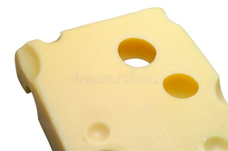 Kaas: Emmentaler met het knippen royalty-vrije stock foto