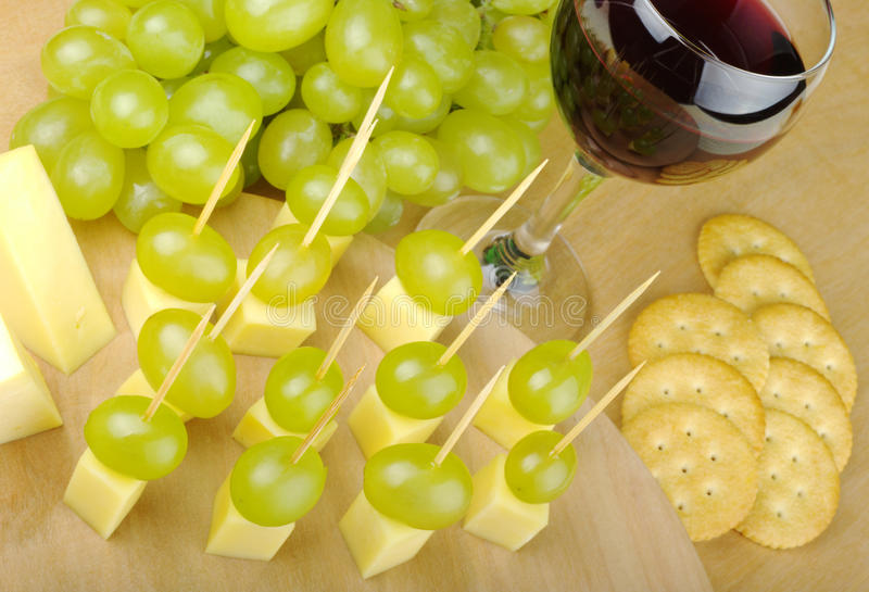 Kaas en Druiven als Fingerfood royalty-vrije stock foto