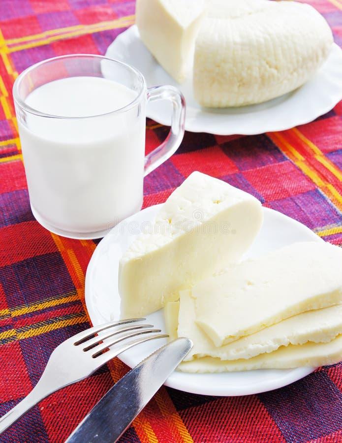 Kaas en melk royalty-vrije stock foto