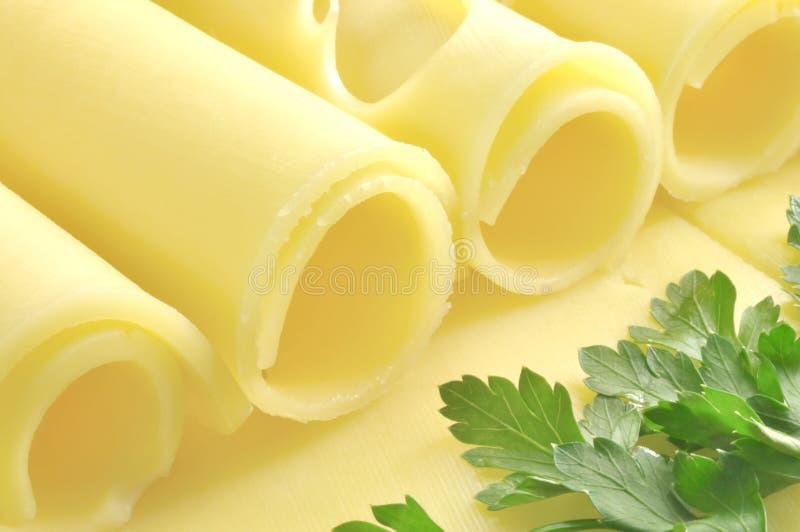 Kaas en peterselie royalty-vrije stock afbeelding
