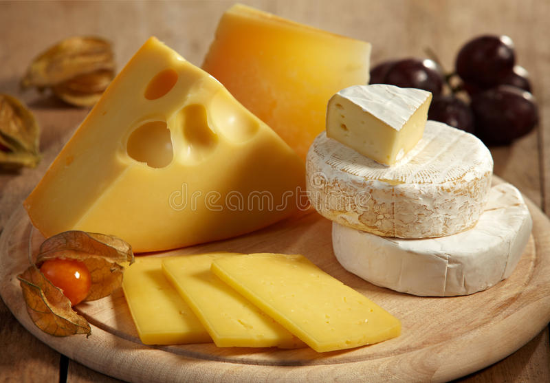Kaas en vruchten stock foto