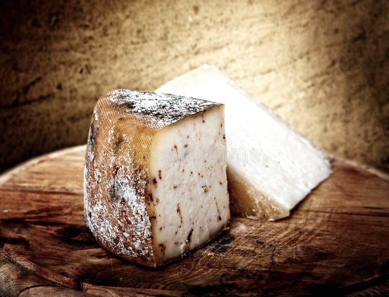 Kaas op hout royalty-vrije stock afbeelding