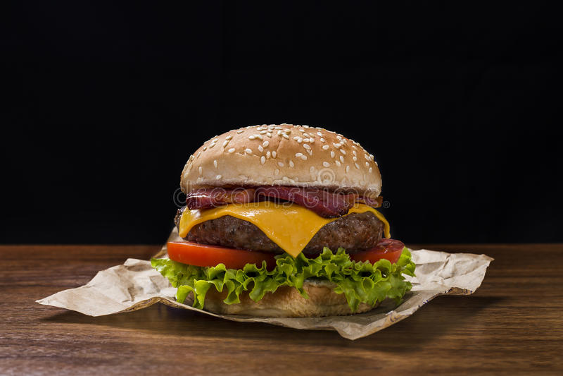 Kaashamburger royalty-vrije stock afbeeldingen