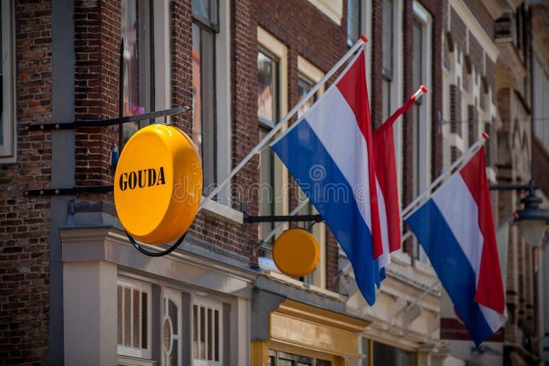 Kaaswinkel in Gouda royalty-vrije stock afbeeldingen