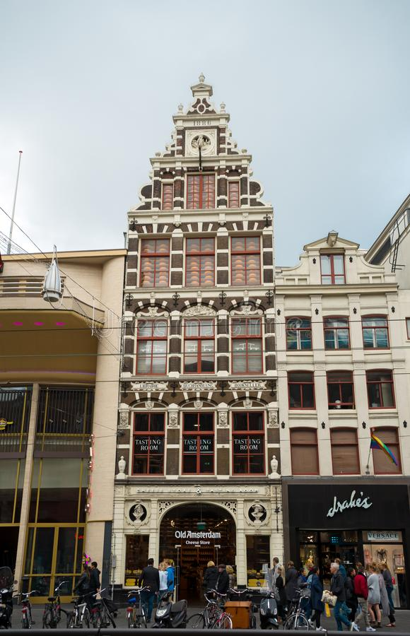 Kaaswinkel, opslag in oud Amsterdam, Nederland, 12 Oktober, 2017 royalty-vrije stock foto's