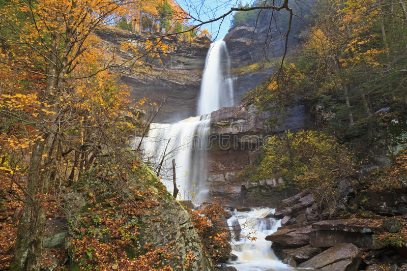 Kaaterskill Falls in Autumn stock photos