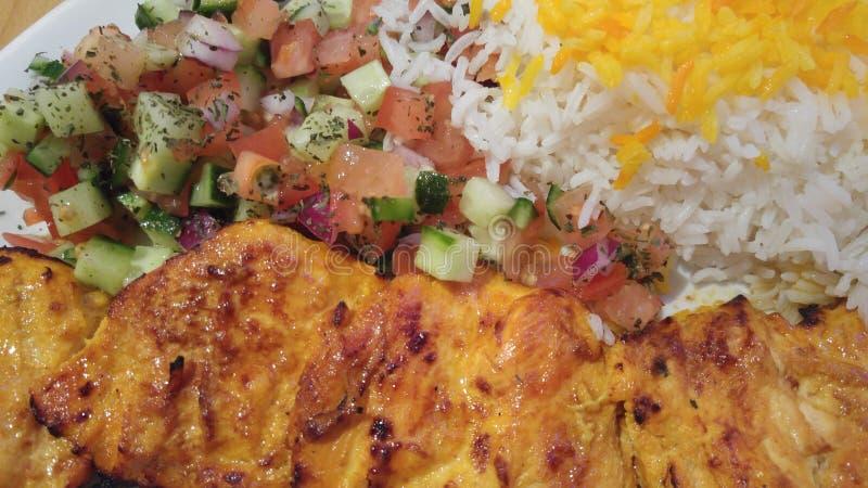 Kabab da galinha fotografia de stock