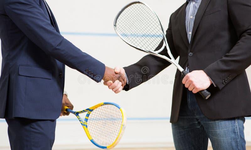 Kabaczków biznesmenów gracze zdjęcie stock