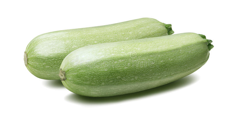 Kabaczka jarzynowego szpika kostnego zucchini odizolowywał 5 na bielu obraz royalty free