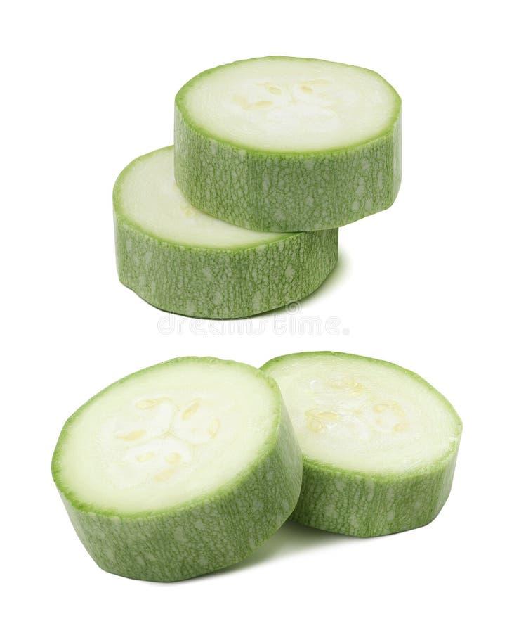 Kabaczka zucchini składa element odizolowywającego na białym tle fotografia stock