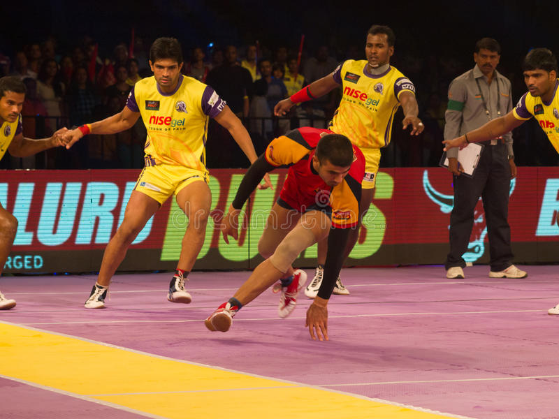 Kabaddi action royalty free stock photo