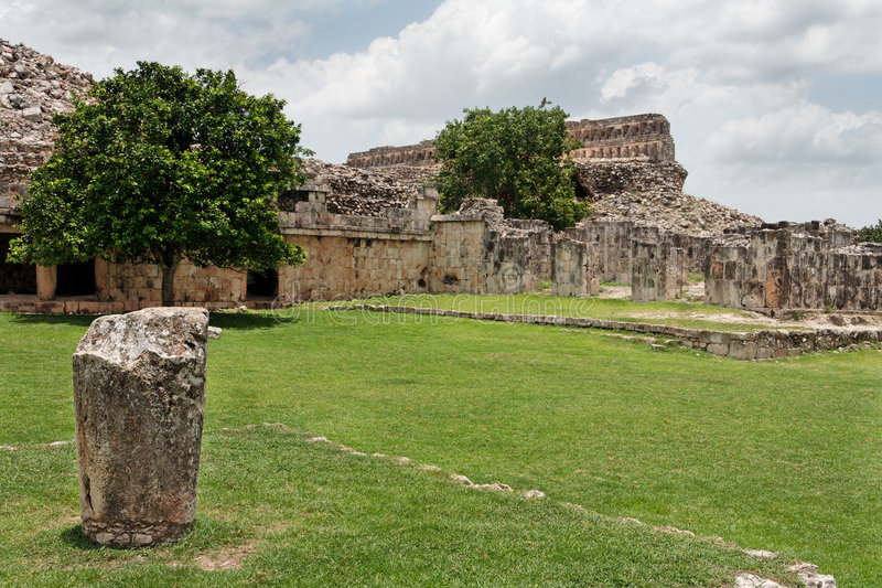 kabah玛雅墨西哥寺庙尤加坦 免版税库存图片