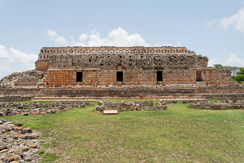kabah mayan ναός yucatan του Μεξικού στοκ φωτογραφίες