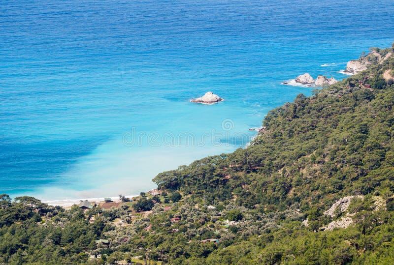 Kabak beach and coastal line. royalty free stock photos