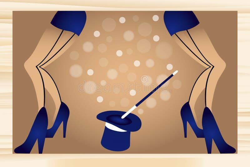 Kabaret royalty ilustracja