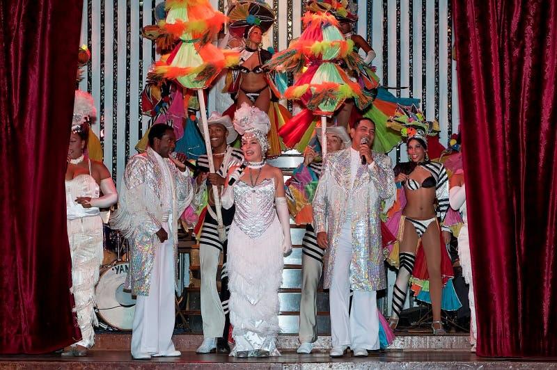 Kabaret Parisien i Havana royaltyfria bilder