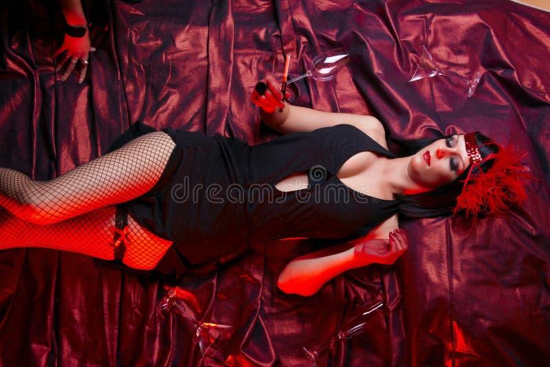kabareta kostiumowego podlotka target1662_0_ dama zdjęcie royalty free